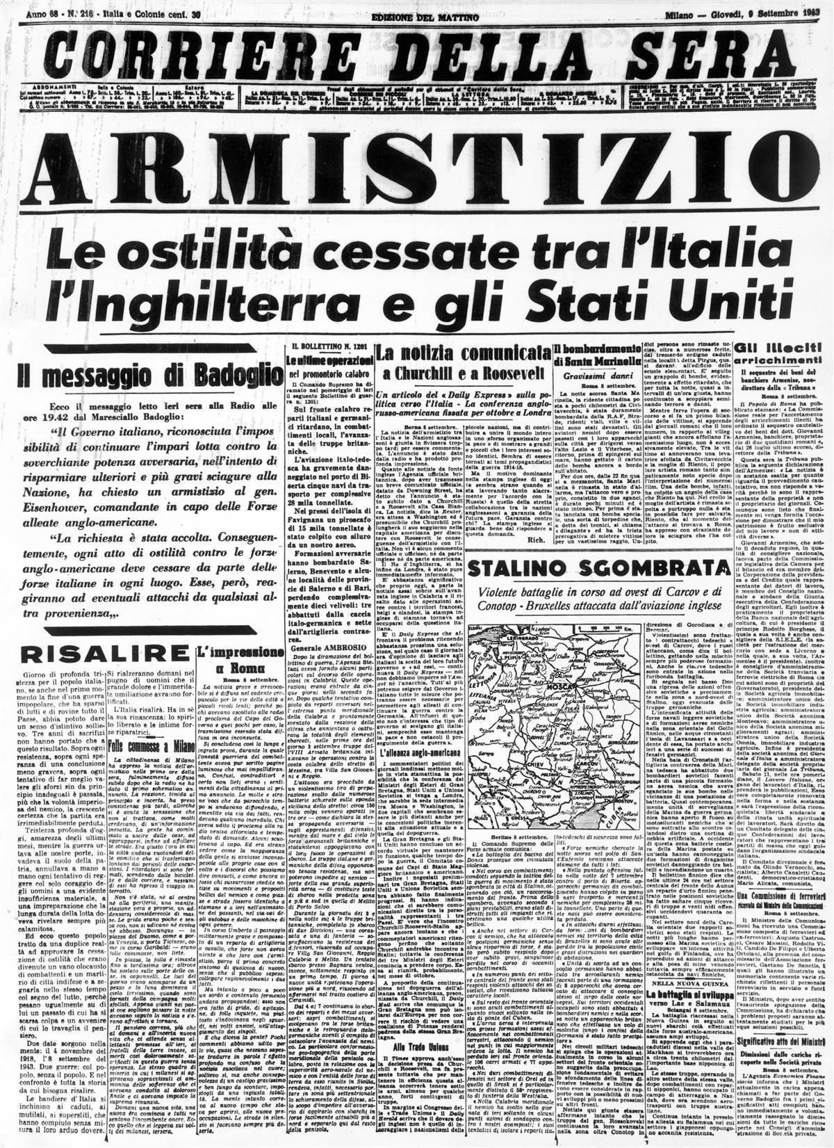 8 settembre 1943 corriere prima (Custom)